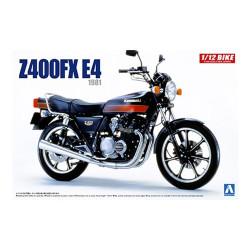 Aoshima 05429 Kawasaki Z400FX E4 1981 1:12 Plastic Model Motorcycle Kit
