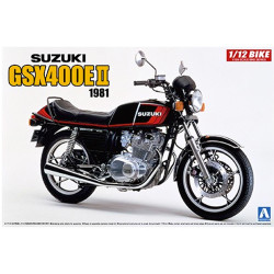 Aoshima 05457 Suzuki GSX400E II 1981 1:12 Plastic Model Motorcycle Kit