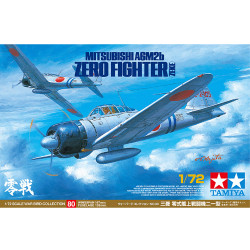 TAMIYA 60780 Mitsubishi A6M2b Zero Fighter Zeke 1:72 Aircraft Model Kit