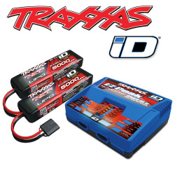 Traxxas iD Completer Pack - EZ-Peak Dual Charger & 2x LiPo 3S 5000mAh Batteries