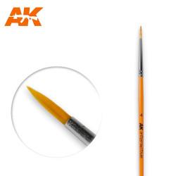 AK Interactive AK605 Round Brush No. 4 Synthetic Paintbrush