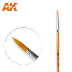 AK Interactive AK607 Round Brush No. 8 Synthetic Paintbrush