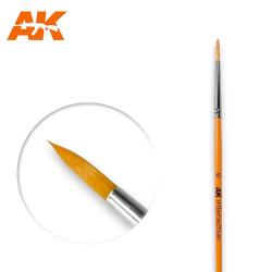 AK Interactive AK606 Round Brush No. 6 Synthetic Paintbrush