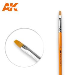 AK Interactive AK609 Flat Brush No. 2 Synthetic Paintbrush