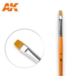 AK Interactive AK611 Flat Brush No. 6 Synthetic Paintbrush