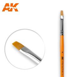 AK Interactive AK610 Flat Brush No. 4 Synthetic Paintbrush