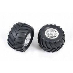 Tamiya 9805619 Rear Tyres & Wheels (2pcs) for 58242 - RC Car Spares