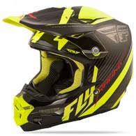 2016 Fly Racing F2 Carbon Fastback Helmet Black/Hi-Vis