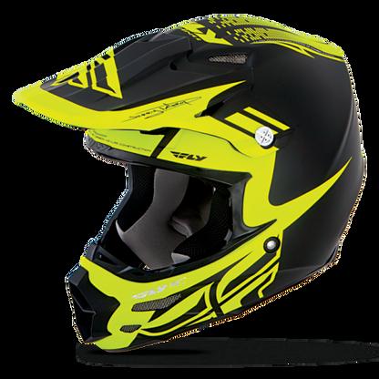 2016 Fly Racing F2 Carbon Dubstep Helmet Matte Black/Hi-Vis