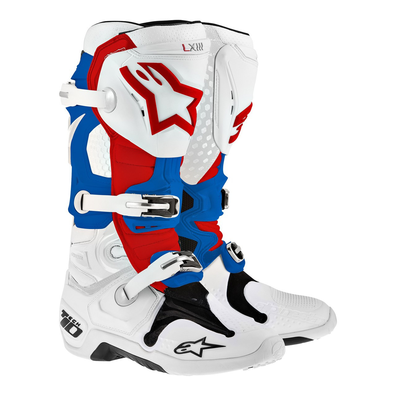 Alpinestars Tech 6S Youth Boots White//Blue//Red White, 4