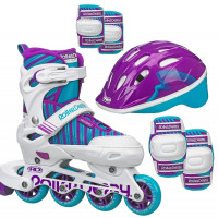 Roller Derby - Carver Girls Size Adjustable Inline Skates + Protective Pack