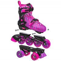 Roller Derby - Flux Girls 2in1 Inline or Quad Size Adjustable Skates