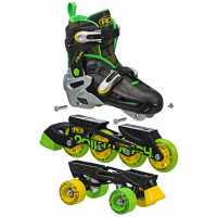 Roller Derby - Flux Boys 2in1 Inline or Quad Size Adjustable Skates