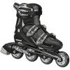 Roller Derby - V-Tech 500 Boys Size Adjustable Inline Skates Black White (Large 6-9)