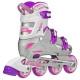 Roller Derby - V-Tech 500 Girls Size Adjustable Inline Skates Grey Purple (Large 6-9) 2nd view