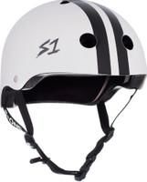 S1 Lifer Helmet - White with Black  Stripes