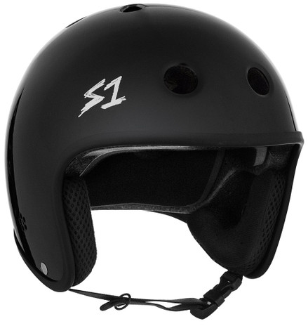 S1 Retro Lifer Helmet - Black Gloss