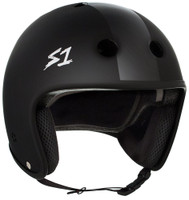 S1 Retro Lifer Helmet - Black Matte with Black Stripes