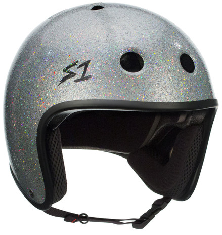 S1 Retro Lifer Helmet - Silver Glitter