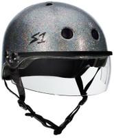 S1 Lifer Visor Helmet - Silver Glitter