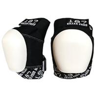 187 Killer Pads Pro Knee Pads - Black & White w/ White Cap