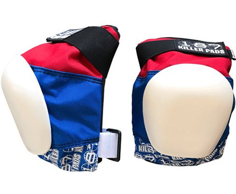 187 Killer Pads Pro Knee Pads - Red / White / Blue