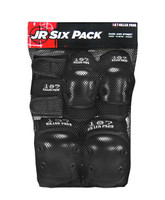 187 Killer Pads Jr Six Pack - Black