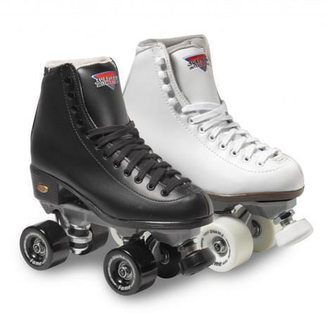 Sure-Grip Quad Roller Skates - Fame-Size 11 Black ONLY