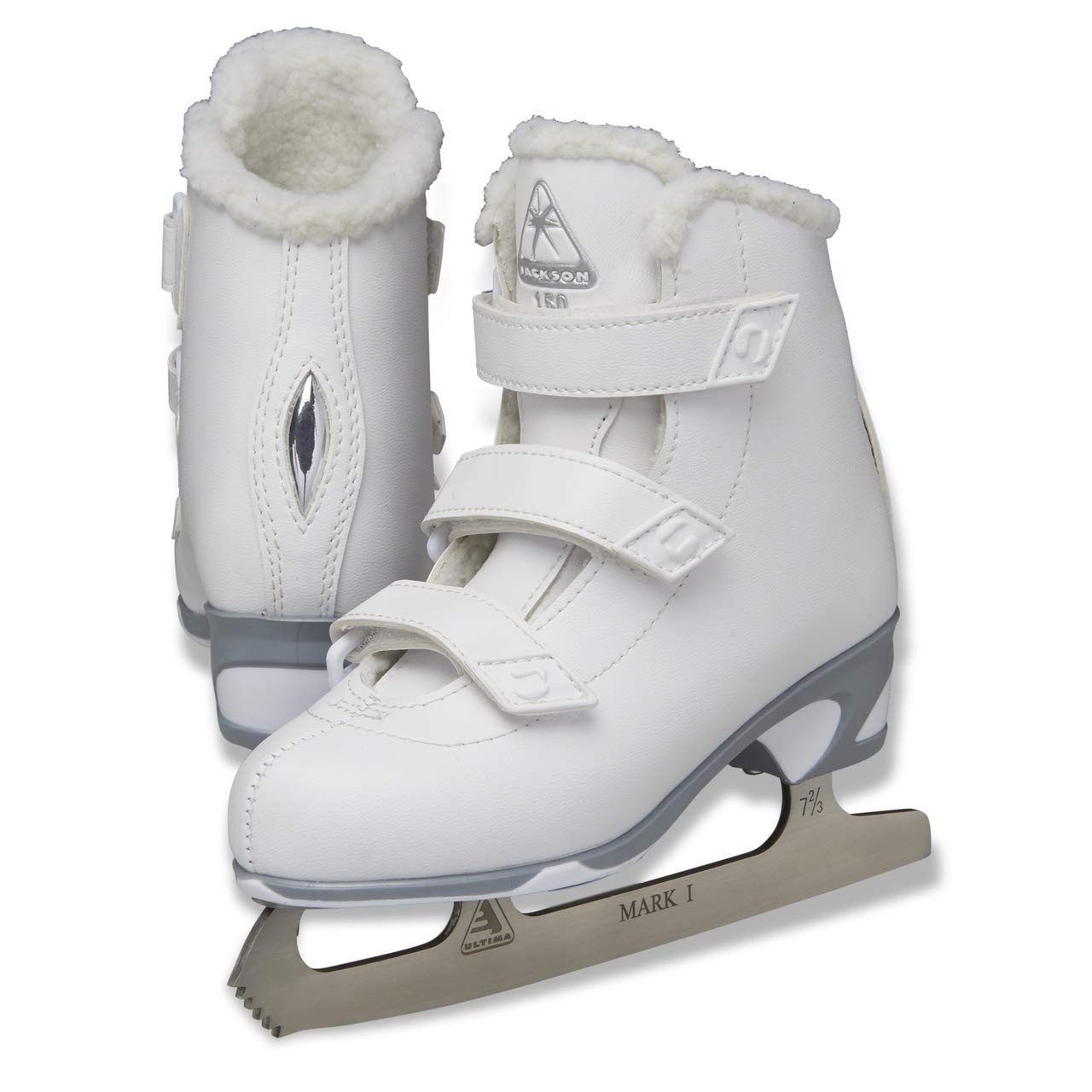 NEW Jackson Misses/' JS151 Girls/' Figure Skates with Mark I Blades White