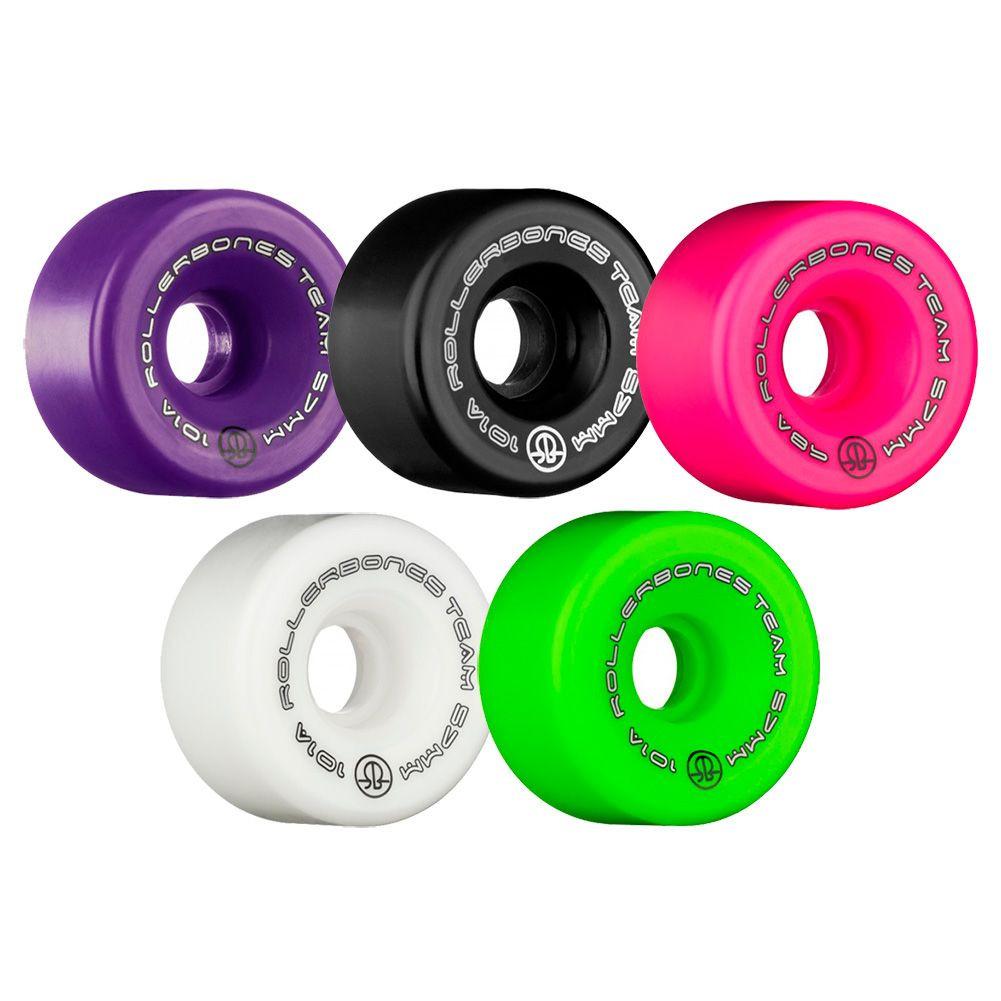 Set of 8 Rollerbones Team Logo Recreational Roller Skate Wheel