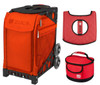 Zuca Sport Bag - Persimmon with Gift Lunchbox and Seat Cover (Black Non-Flashing Wheels Frames)