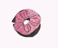 Fun Food Ice Skating Soakers-  Strawberry Chocolate Swirl