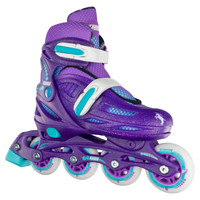 Adjustable Inline Roller Skates - 148 Purple Glitter