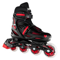 Adjustable Inline Roller Skates - 148 Black