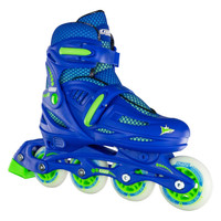 Adjustable Inline Roller Skates - 148 Blue