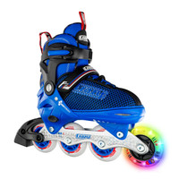 Adjustable Inline Roller Skates - 168 Blue