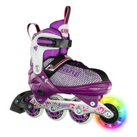 Adjustable Inline Roller Skates - 168 Purple