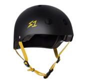S1 Lifer Helmet - Black Matte w/ Yellow Straps