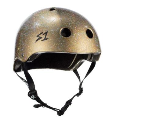 S1 Lifer Helmet - Double Glitter Gold Gloss