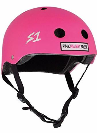 S1 Mini Lifer Helmet - Posse Hot Pink Matte