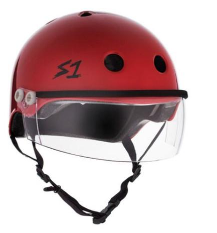 S1 Lifer Visor Helmet - Scarlet Red  w/ Clear Visor