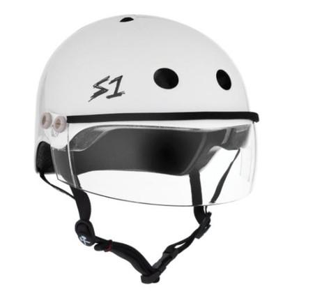 S1 Lifer Visor Helmet - White Gloss w/ Clear Visor