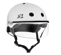 S1 Lifer Visor Helmet - White Gloss w/ Clear Visor