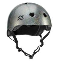 S1 Mega Lifer Helmet - Silver Gloss Glitter