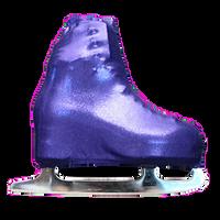 Metalic Figure Skating Boot Covers by Kami-So - Metallic Purple