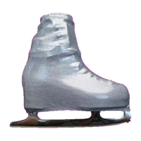 Metalic Figure Skating Boot Covers by Kami-So - Metallic Silver