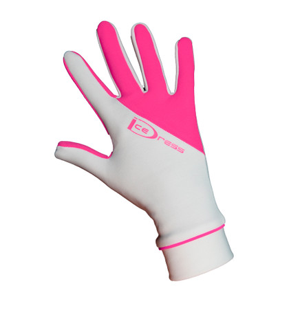 IceDress Two Color Thermal Figure Skating Gloves Sport (Whire/Pink)