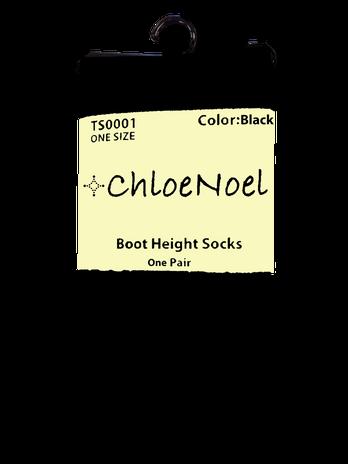 ChloeNoel Knee High Socks (Black)