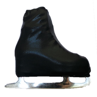 Metallic Figure Skating Boot Covers by Kami-So - Metallic - Black