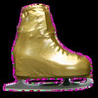 Metallic Figure Skating Boot Covers by Kami-So - Metallic Gold